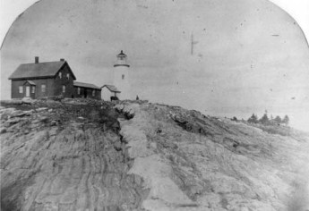 Pemaquid Lighthouse ca. 1859. Courtesy U.S. Coast Guard