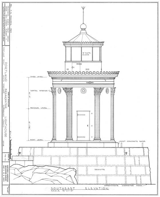 Architectural Drawing Lighthouse History