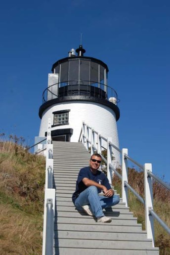 Bob Trapani, keeper of Owls Head Lighthouse