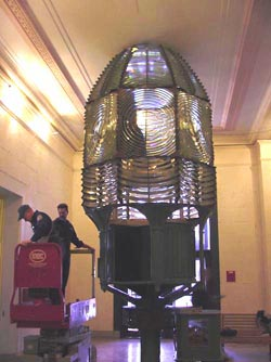 Fire Island Lighthouse lens at Franklin Institute, 2000