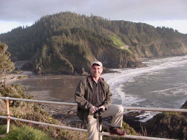 Cullen Chambers at Heceta Head Lighthouse, 2001