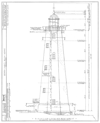 Documentation drawing completed by the Works Progress Administration (WPA) Historic American Building Survey (HABS)