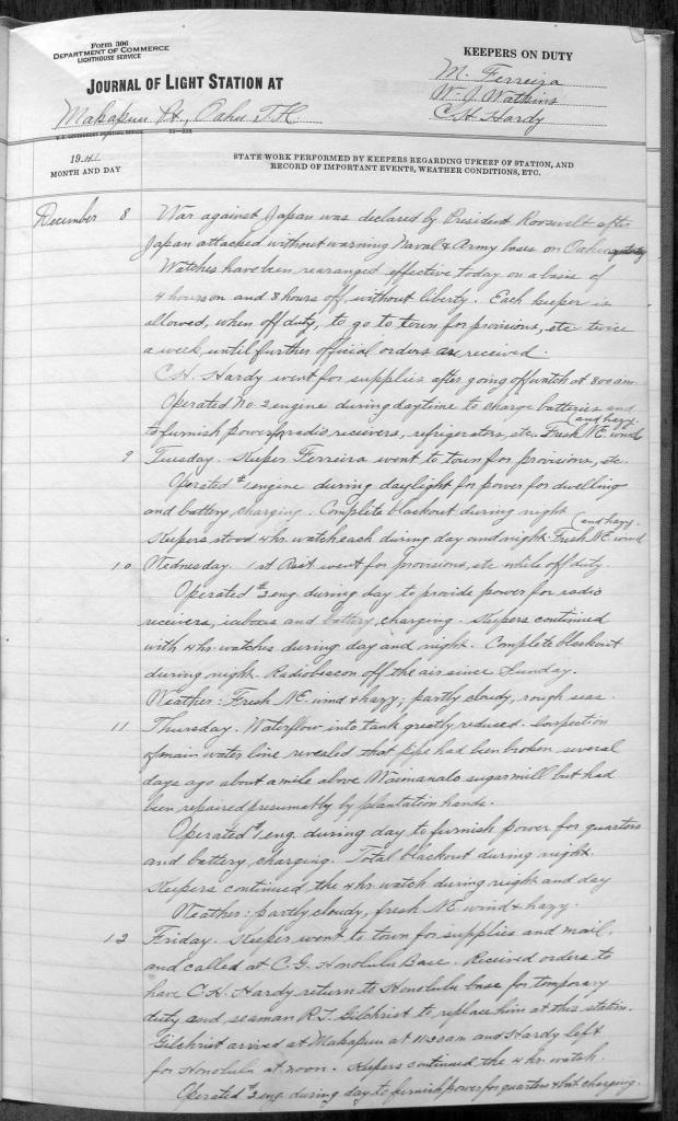 Makapuu logbook
