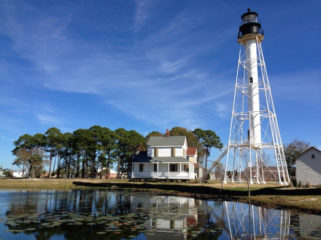 Cape San Blas Light Station was moved to its new location in Port St. Joe in July 1914 to avoid encroaching erosion.