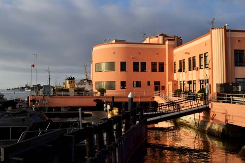 The Los Angeles Maritime Museum is located in the old ferry terminal on the San Pedro waterfront.