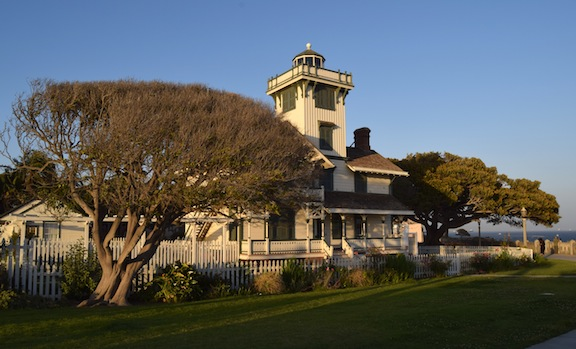 Apart from a few more trees, Point Fermin Lighthouse has not changed significantly since its construction in 1874.  Photo by Candace Clifford